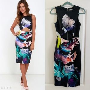 Finders Keepers cut out front midi dress XS